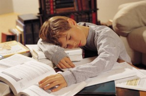 Child sleeping through homework